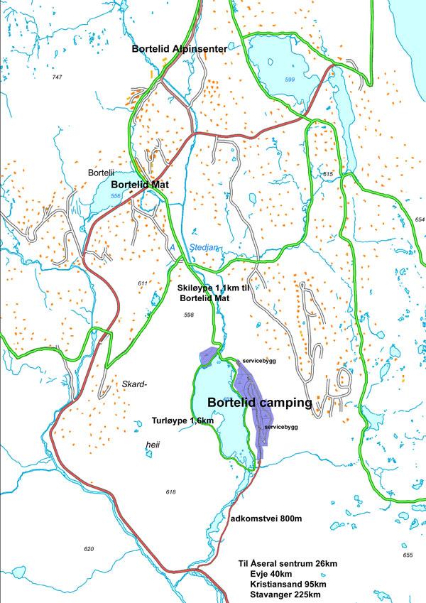 kart over åseral Bortelid Camping kart over Bortelid | Bortelid Camping kart over åseral